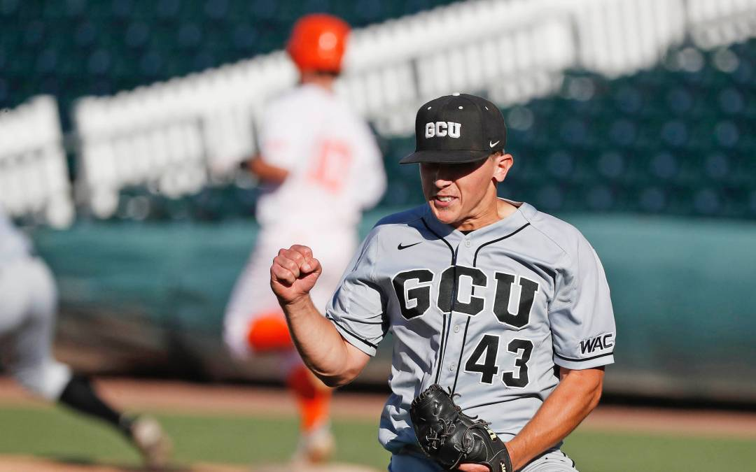 Kade Mechals pitches out of jams to lead GCU to win over UTRGV