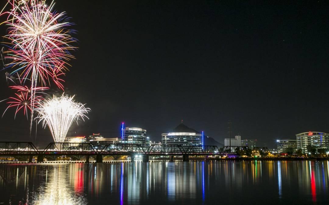 Fireworks in Phoenix, Tempe, Scottsdale, Mesa