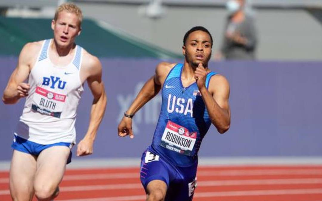 Claye, Benard qualify first, third in triple jump at Olympic Track Trials