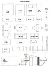 Furniture To Scale Cutouts - Furniture Designs
