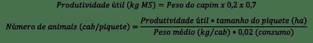 Cálculo da produtividade de pastagem