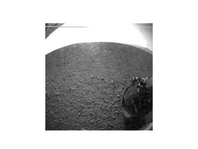 Fotografia del suelo en Marte.