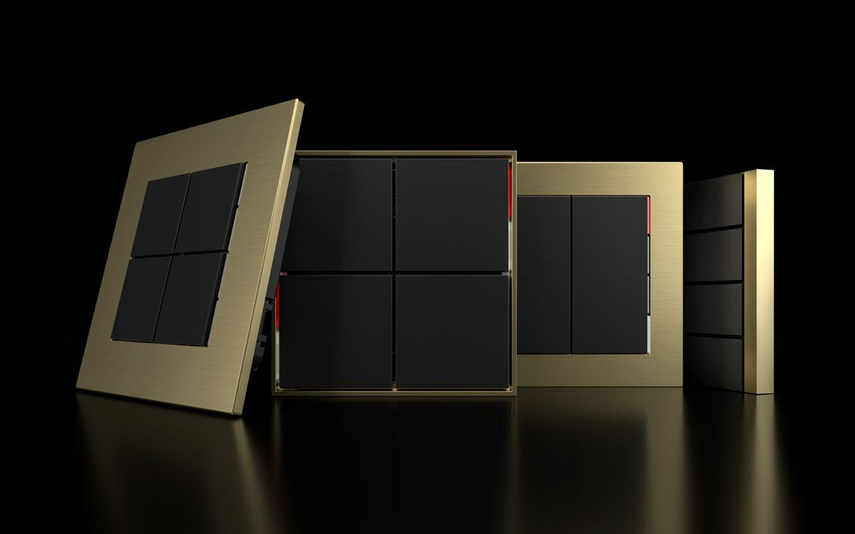 Ekinex vypínač switch gold zlatá