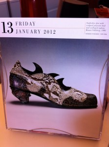 My Shoe Calendar on Friday the 13th