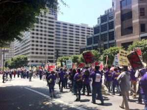 Justice for Janitors Protest