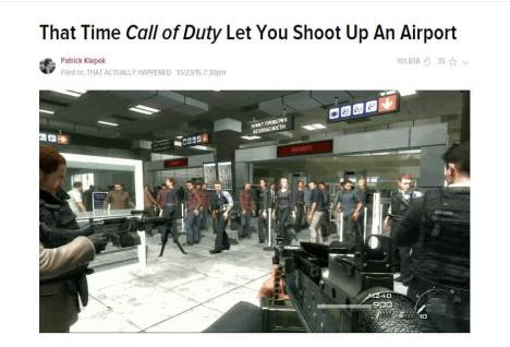 "Call of Duty's ""No Russian"" is more than ""shooting up an airport."""