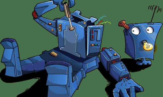 Roboter zerlegt sich selbst