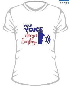"""""""Your Voice Changes Everything"""" Branded T-Shirt"""