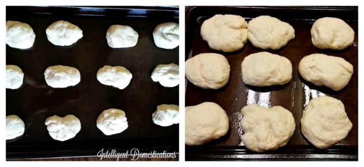 Yeast Roll dough rising and ready to bake.intelligentdomestications.com