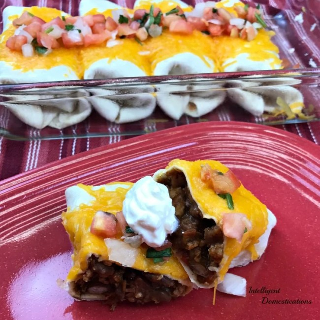 Beef & Bean Burritos recipe at Intelligent Domestications