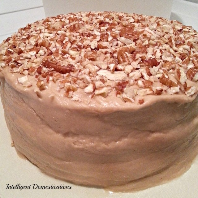 Caramel Cake Recipe not quite from scratch. Homemade Caramel Icing recipe included