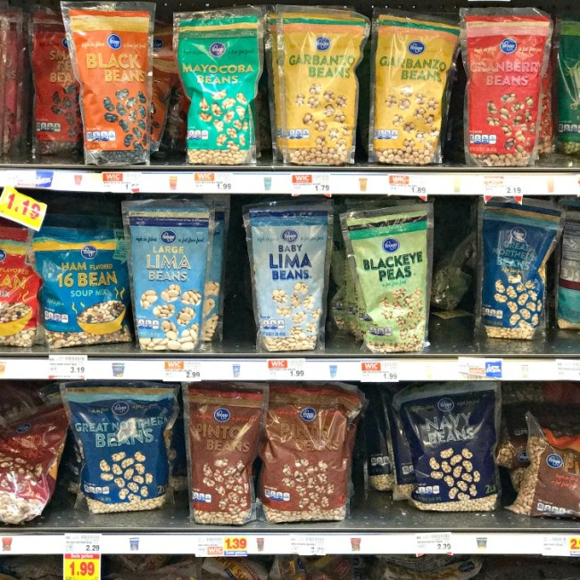 Dried peas and beans are great for stretching the grocery budget.