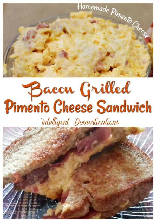 Bacon Grilled Pimento Cheese Sandwich made with Homemade Pimento Cheese spread. #sandwichrecipe #sandwich