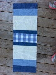 Blue quilted table runner