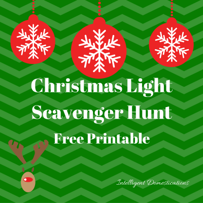 Christmas Light Scavenger Hunt Game Free Printable