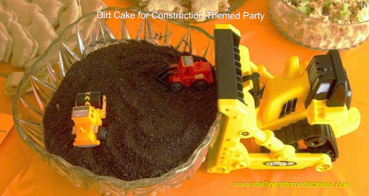 Dirt Cake using crushed Oreo's for the 'dirt'