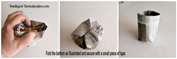 Faux peat pot bottom fold instructions Intelligentdomestications.com