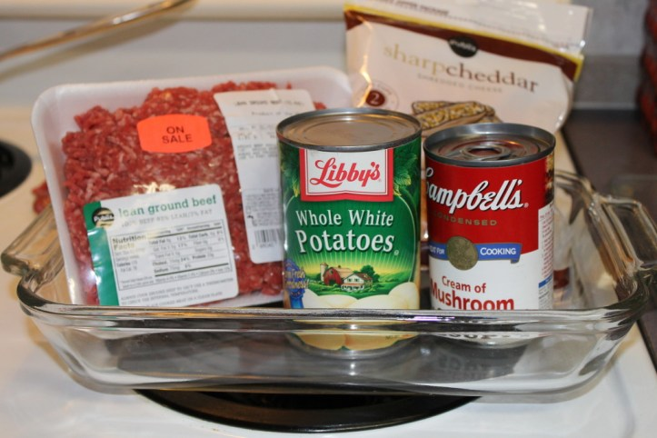 Basic Ingredients for Meat & Potato Casserole