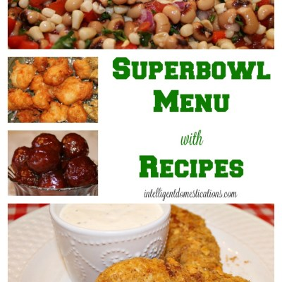 Super Bowl Party Menu & Recipes