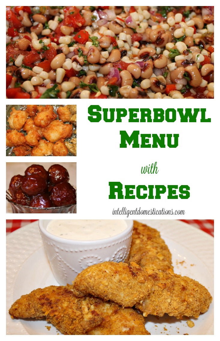 Super Bowl Menu with Recipes. Super Bowl party food. Super Bowl party food ideas