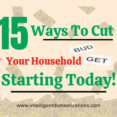 15 Ways To Cut Your Household Budget Starting Today