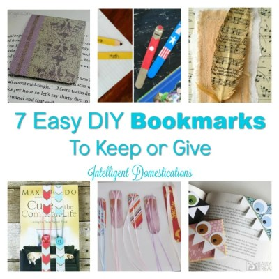 DIY Bookmarks & 3 Clever Repurposed Book Ideas