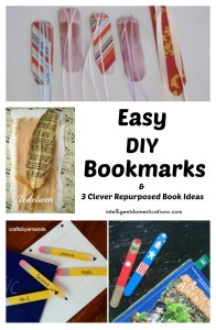 Easy DIY Bookmarks & 3 Clever Repurposed Book Projects.intelligentdomestications.com