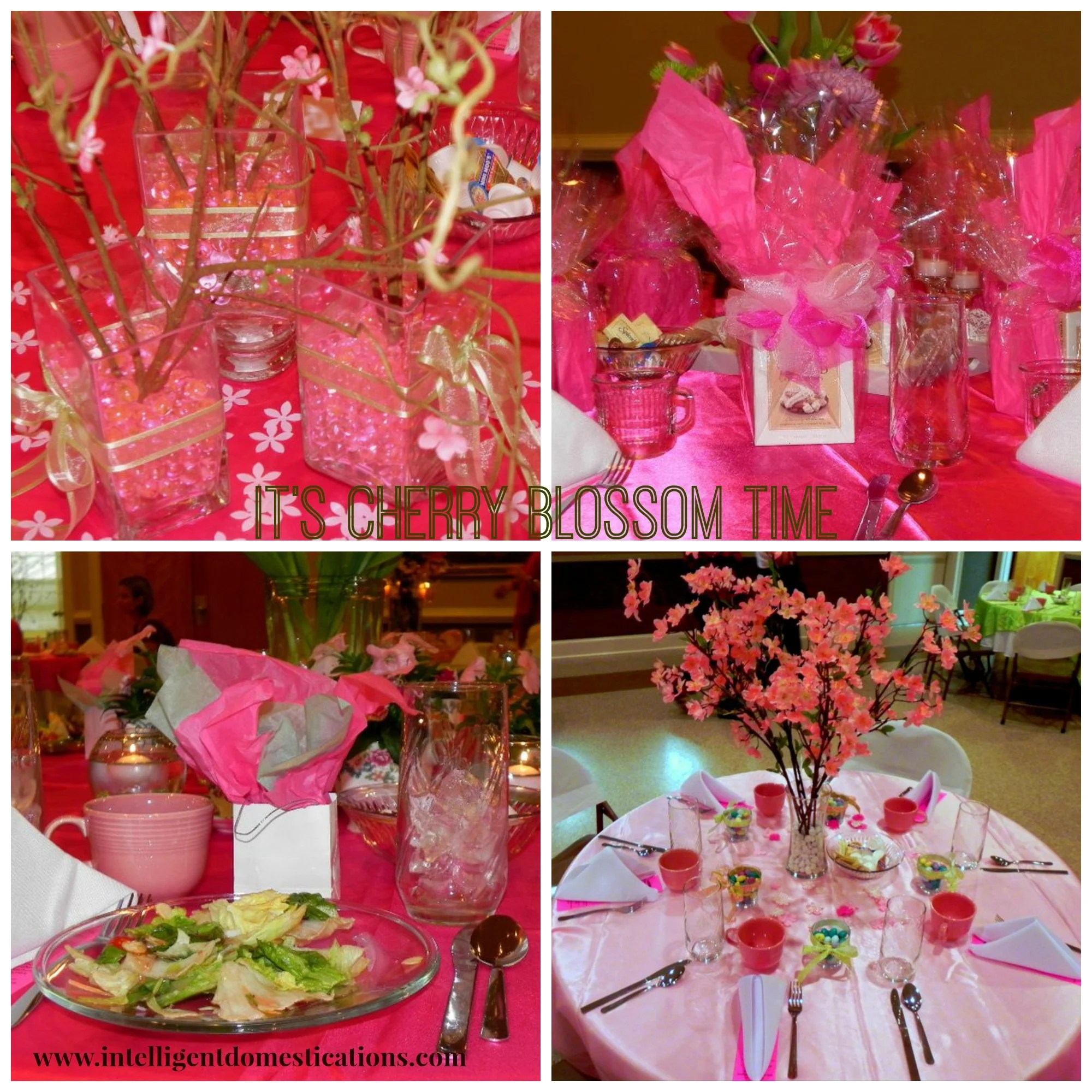 Cherry Blossom Theme Gift Bags and Centerpieces www.Intelligentdomestications.com