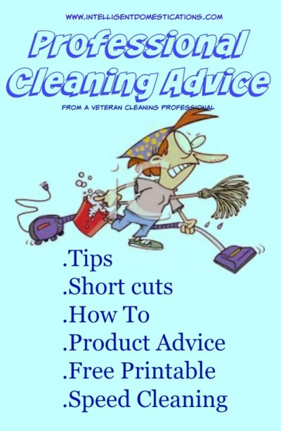 Professional Cleaning Advice from a veteran cleaning professional at www.intelligentdomestications.com