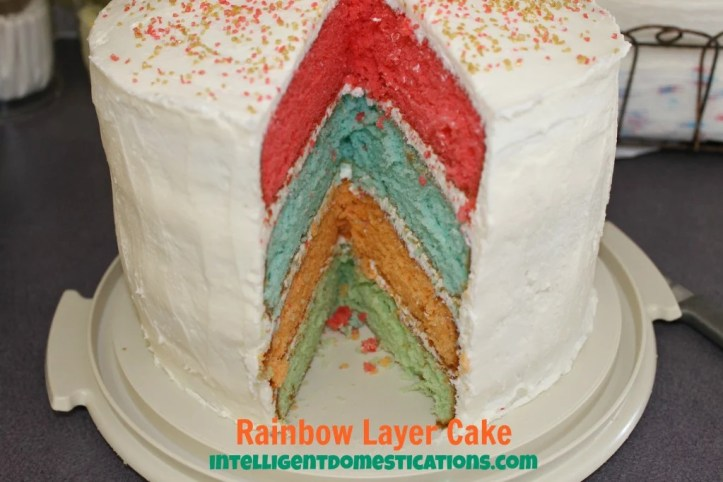 Rainbow Layer Cake Colors by intelligentdomestications.com