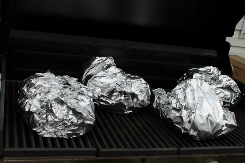 Foil pack dinners on the grill