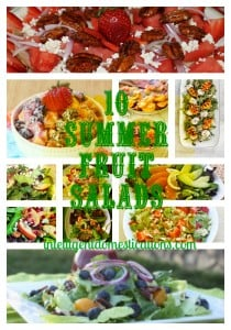Summer Salad Series Week Three. 10 Summer Fruit Salads by intelligentdomestications.com