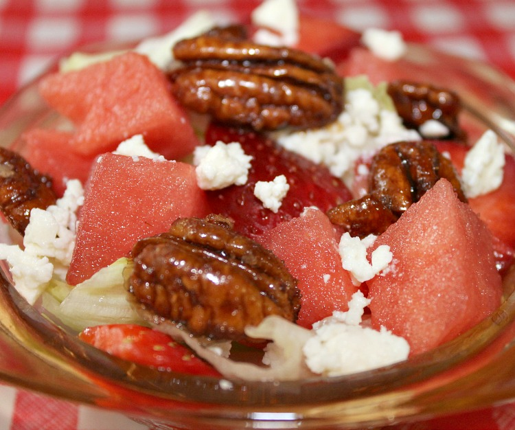 Sweet and Salty Watermelon Salad recipe. Easy Watermelon Salad. Watermelon Salad recipe
