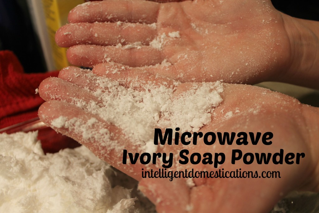 3.Homemade Laundry Detergent Instructions. The Ivory Soap will crumble into a soft powder after expanding in the microwave.intelligetndomestications.com