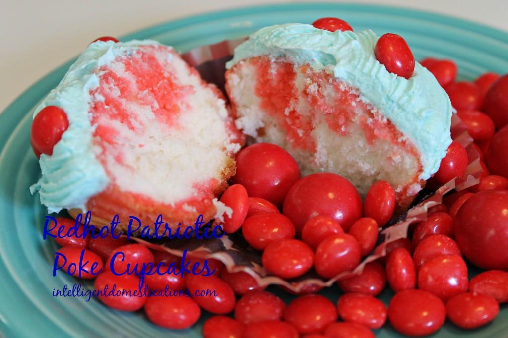 Redhot Patriotic Poke Cupcakes.intelligentdomestications.com