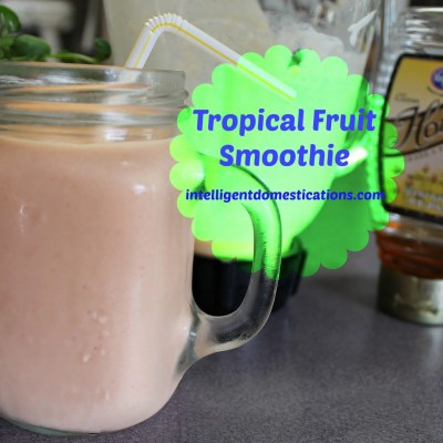 My Favorite Super Easy Fruit Smoothie