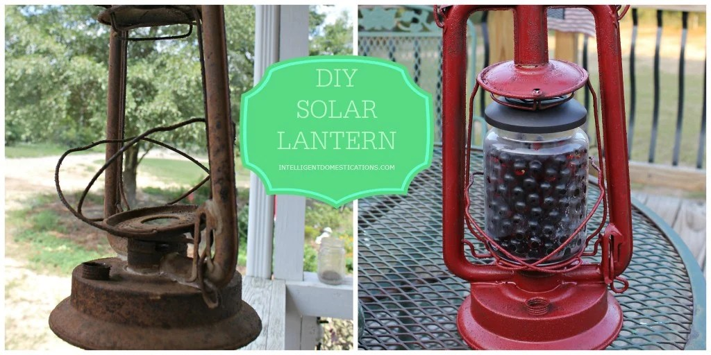 DIY Solar Lantern before and after.intelligentdomestications.com