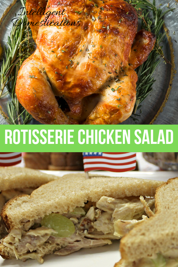Rotisserie Chicken Salad recipe with grapes and no mayo