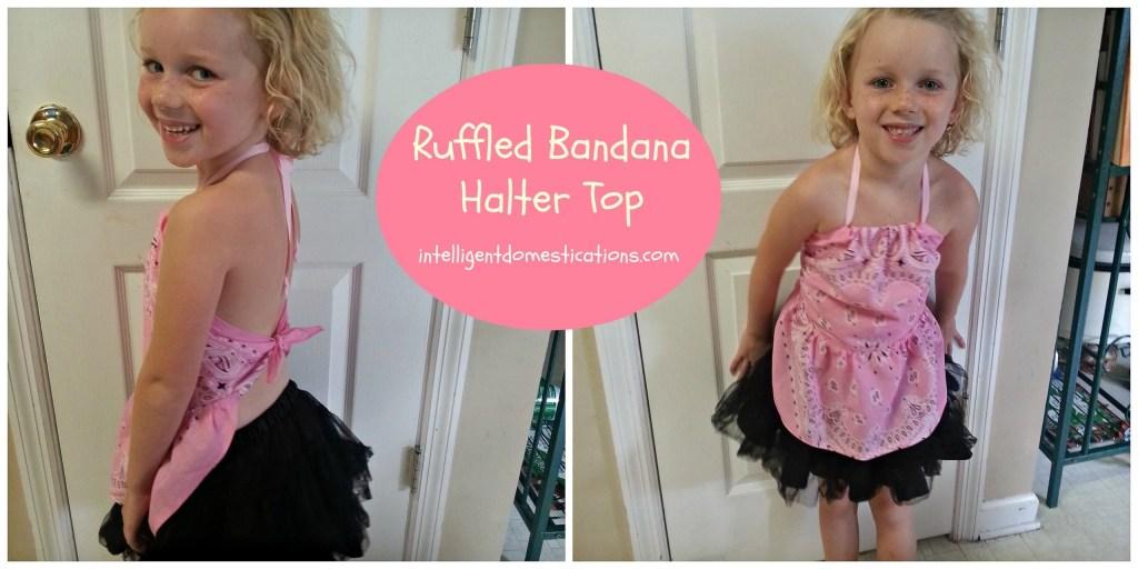Ruffled Bandana Halter Top.intelligentdomestications.com