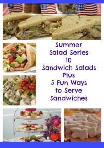 #SummerSaladSeries. 10 Sandwich Salads Plus 5 Fun Ways to Serve Sandwiches.intelligentdomestications.com
