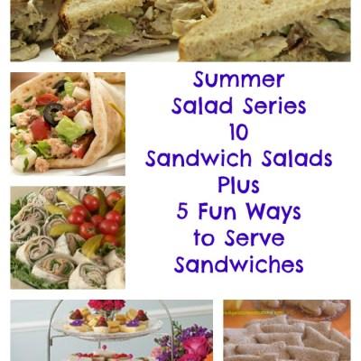 Summer Salad Series: 10 Pinteresting Sandwich Salads Plus 5 Fun Ways to Serve Sandwiches