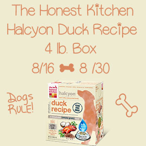 Halcyon Duck Recipe Dog Food Giveaway