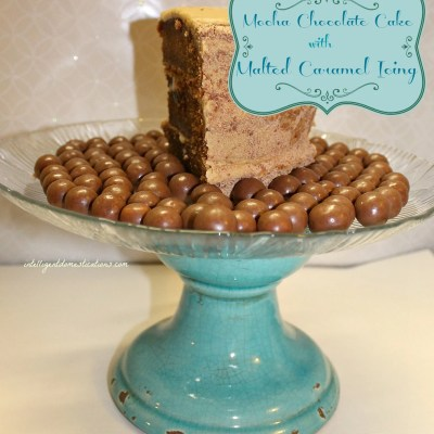Mocha Chocolate Cake with Malted Caramel Icing