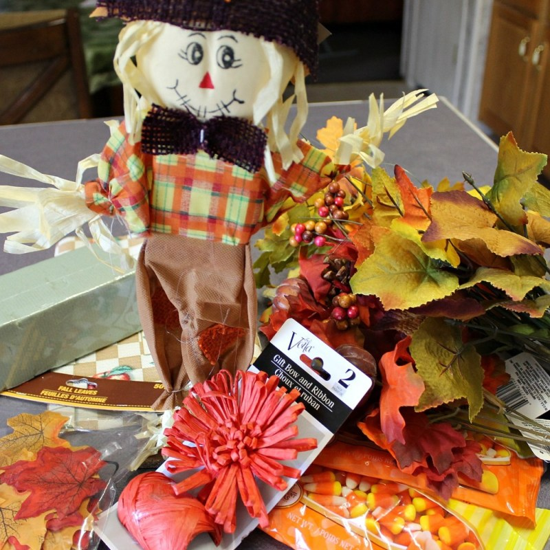 Supplies for Dollar Store Challenge. Fall Centerpiece.intelligentdomestications.com