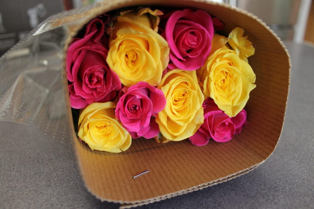 Beautiful roses waiting to be released