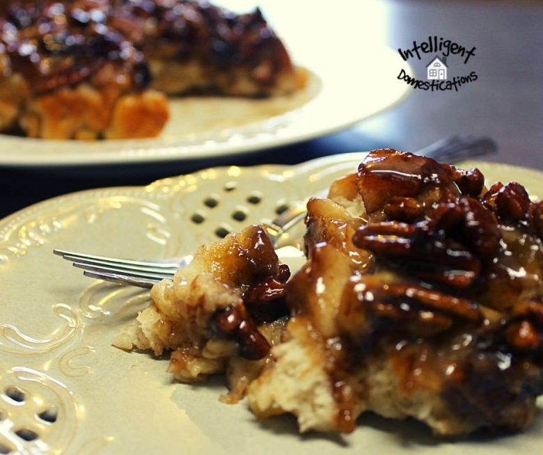 Caramelized Apple Pecan Biscuits on a plate
