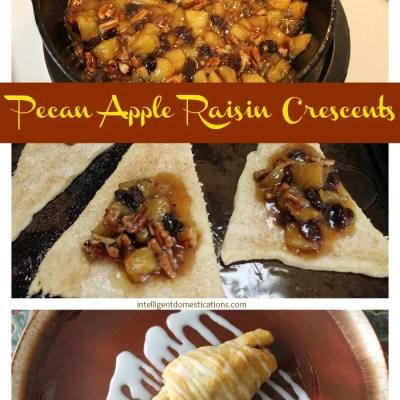 Pecan Apple Raisin Crescents