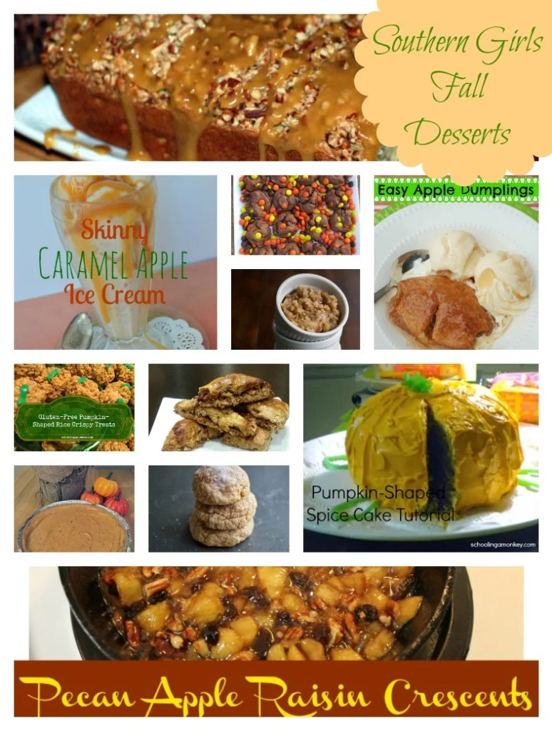 Southern Girls Fall Desserts Round Up. Find all the recipe links at www.intelligentdomestications.com