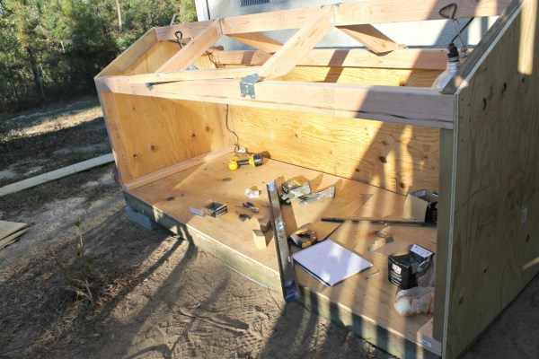 Dog House in the making.3.Find plans and instructions at www.intelligentdomestications.com