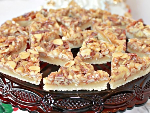 Triple Nut Diamond Bar Cookies Recipe. Nut Bar Cookies recipe